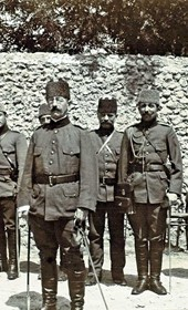 "Jäckh303: ""Turkish officers in Albania"" (Photo: Ernst Jäckh, ca. 1910. Courtesy of Rare Books and Manuscript Library, Columbia University, New York, 130114-0031)."