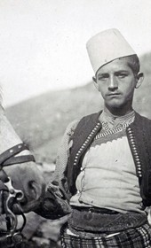 "Jäckh304: ""Young Albanian from Zadrima"" (Photo: Ernst Jäckh, ca. 1910. Courtesy of Rare Books and Manuscript Library, Columbia University, New York, 130114-0083)."