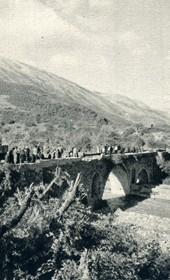 GM102: Bridge on the road near Përmet (Photo: Giuseppe Massani, 1940).