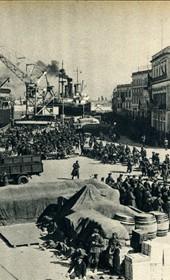 GM125: Italian troops disembarking in Durrës (Photo: Giuseppe Massani, 1940).
