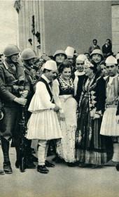 GM131: An organized pro-Duce demonstration in Tirana (Photo: Giuseppe Massani, 1940).