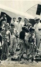 GM158: Young Albanian boys marvel at an Italian aircraft (Photo: Giuseppe Massani, 1940).