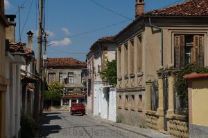 Altstadt von Korça, Albanien