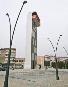 Der grosse Turm von Korça, Albanien