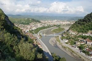 Blick über die Stadt Berat, Albanien