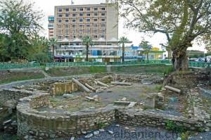 Ausgrabungen einer frühchristlichen Basilika im Stadtzentrum