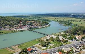 Brücke über die Buna und Shkodrasee