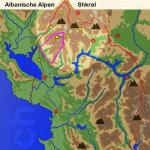 Karte Albaniasche Alpen: Shkrel
