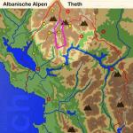 Karte Albaniasche Alpen: Theth