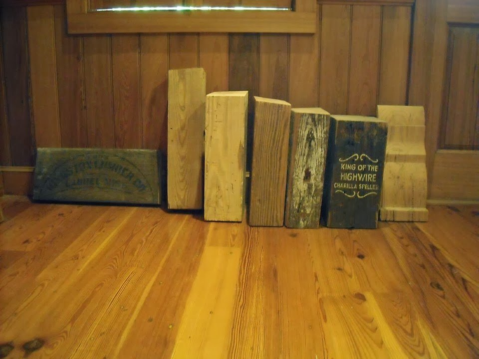 Antique Heart Pine Beams are Albany Woodworks' Specialty