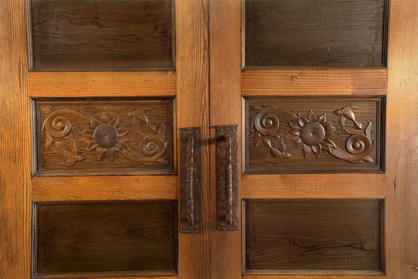 Sinker Cypress Doors Detail