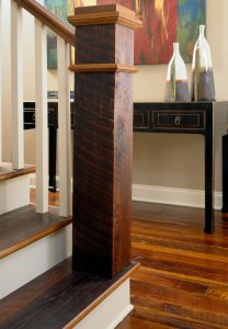 Orleans Collection Rustic Heart Pine Stairs and Handrail