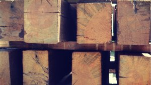 We house these sturdy well-aged beams in our warehouse