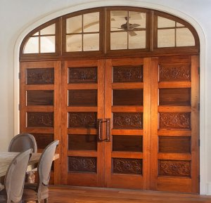 custom antique cypress door