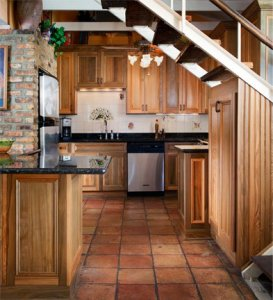Sinker Cypress Kitchen Cabinets, Moldings, and Pantry
