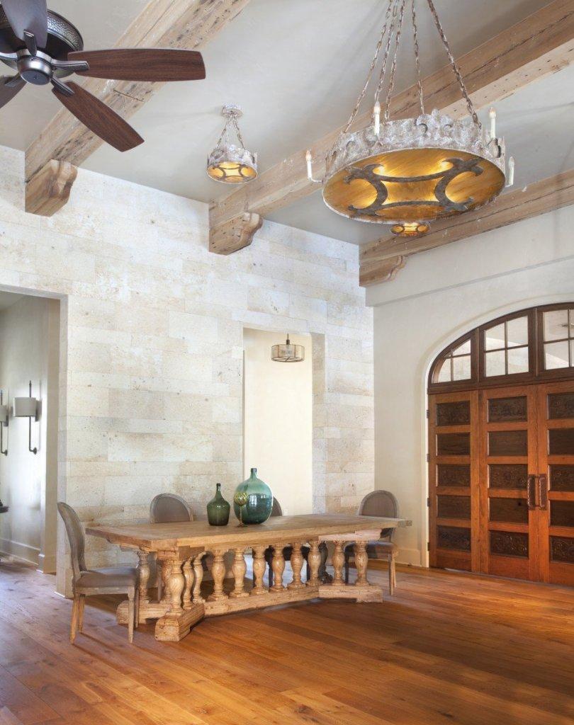 White washed oak beams