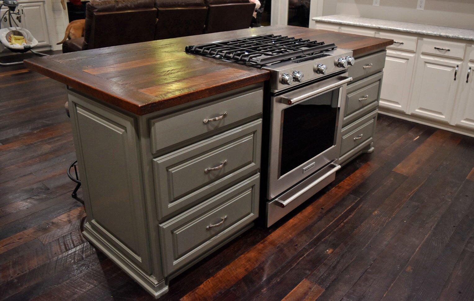 Kitchen Island Dirty Top Pine