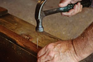 While we pull up 60 tons of nails each year, we still hand-select and handcraft each beam and lumber.