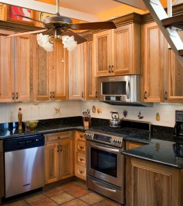 Sinker Cypress Cabinets and Crown Molding