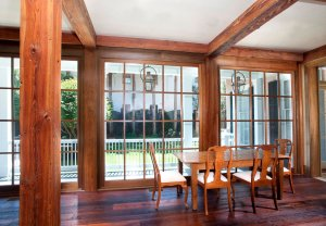 Antique Heart Pine Beams, Cypress Windows