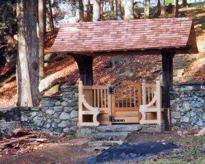 Antique Heart Cypress Gate