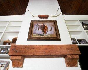 Antique Heart Cypress Beam Mantle