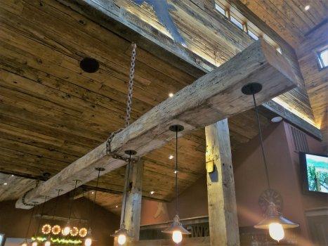 reclaimed exposed beams