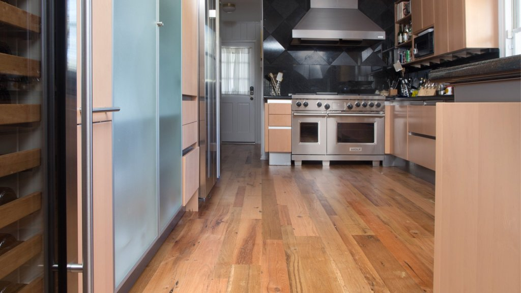 Hardwood Oak Flooring Kitchen