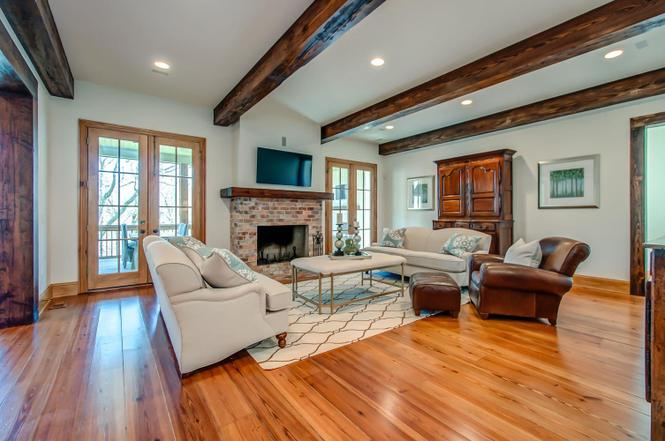Reclaimed pine beams heart pine flooring