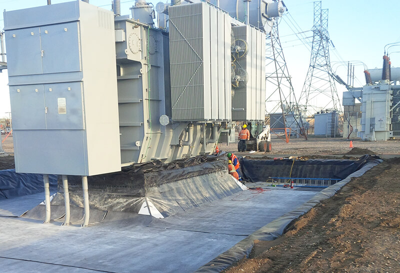 secondary oil containment system SorbWeb Plus by Albarrie GeoComposites
