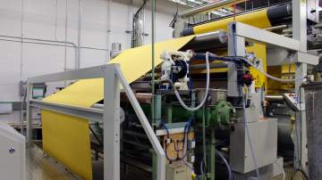 Stenter Frame with Non-Woven NeedlePunch Fabric