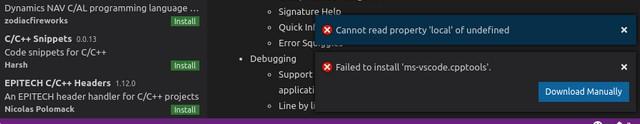 كيفية حل مشكلة عدم تثبيت الإضافات فى برنامج Visual Studio Code؟