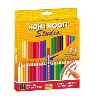 Astuccio 24 matite colorate Koh I Noor Studio DH3325