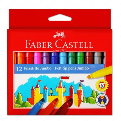 Faber Castell Pennarelli Jumbo Scatola 12 pezzi