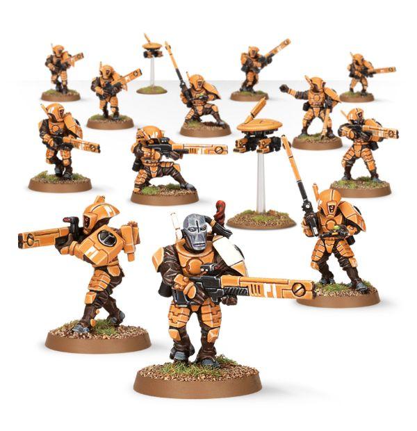 Team di Guerrieri del Fuoco Tau – WH40k