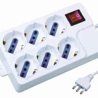 Multipresa Ciabatta Elettrica 6 posti Schuko E280