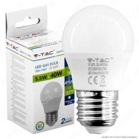 Lampadina LED E27 470lm Miniglobo G45 5.5W (40w)