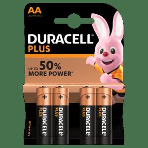 Batterie Stilo AA Alcaline LR6 Duracell Plus Power 4pz