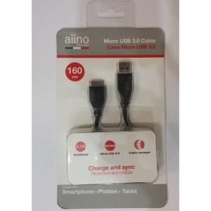 Cavo Dati e Ricarica Micro USB 3.0 160cm aiino