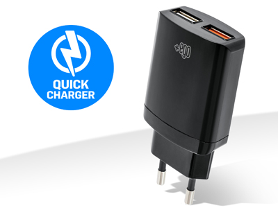 Caricatore da rete Doppio Usb Quick Charger Travel charger universale