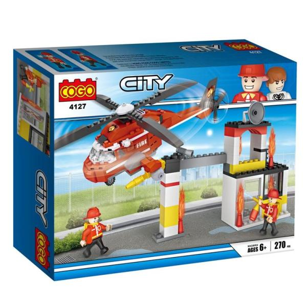 Costruzioni Cogo City Elicottero dei Pompieri 4127