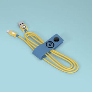 Cavo Lightning certificato MFI Apple 120cm Dati e Ricarica Minions Cattivissimo Me CARL
