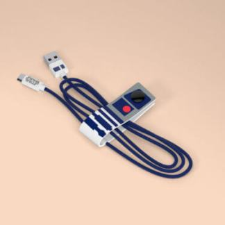 Cavo Lightning certificato MFI Apple 120cm Dati e Ricarica Star Wars R2-D2