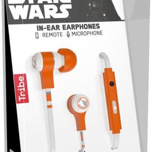 Tribe Auricolare con Microfono Swing Star Wars BB-8 In-Ear jack 3.5mm