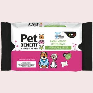 Pet Benefit 40 Panni Manto Detergenti Cani e gatti
