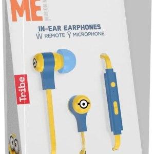 Tribe Auricolare con Microfono Swing Minions CARL In-Ear jack 3.5mm