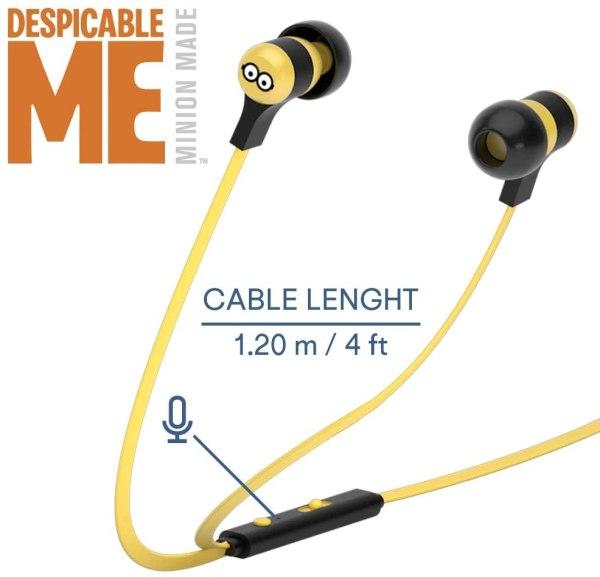 Tribe Auricolare con Microfono Swing Minions TOM In-Ear jack 3.5mm