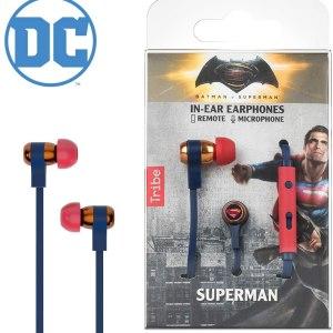 Tribe Auricolare con Microfono Swing Superman DC Comics In-Ear jack 3.5mm