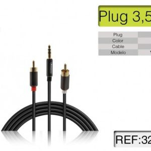 Cavo coassiale audio stereo Jack - RCA (jack 3.5mm e 2 RCA)