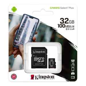 Scheda MicroSD da 32 GB Adattatore SD Incluso SDCS2/32GB Kingston Canvas